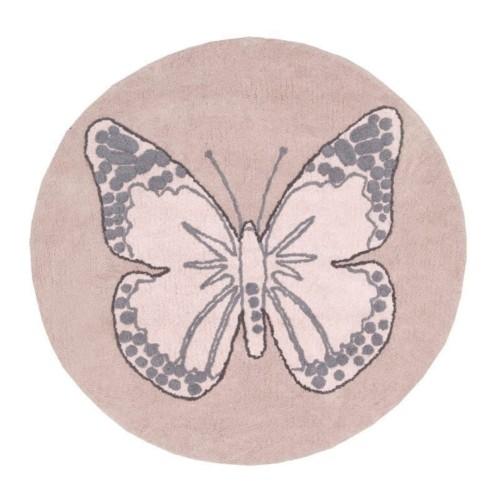 Lorena Canals Dywan bawełniany Butterfly Nude Ø 160 cm